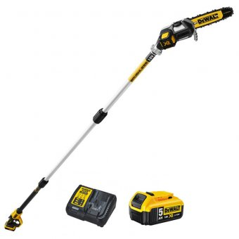 DEWALT DCMPS567P1 18V XR BRUSHLESS POLE SAW WITH 1X5.0AH BATTERY AND CHARGER