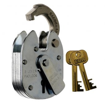 ERA 975-91 CLOSED SHACKLE 5 LEVER PADLOCK