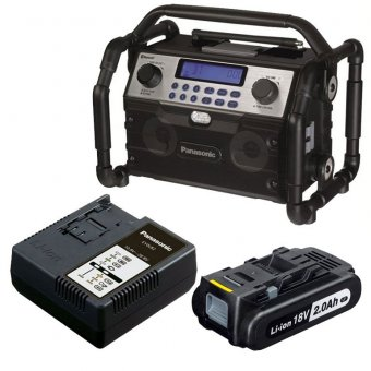 PANASONIC EY37A2 RADIO KIT WITH 1 X CHARGER AND 18V 2.0AH BATTERY