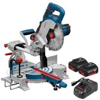 Bosch 18V Brushless Mitre Saw Body Only GCM 18V-216 5.0ah Kit