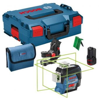 BOSCH GLL 3-80 CG 12V GREEN LINE LASER WITH 1 X 2.0AH BATTERY