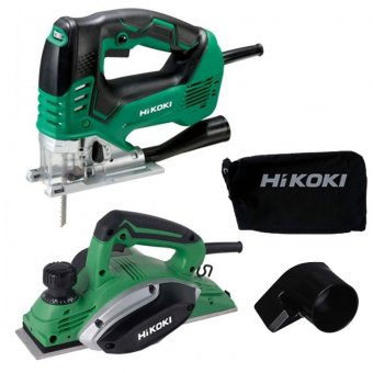 HIKOKI HIKOKIXMSDEAL1 240V TWIN PACK ELECTRIC PLANER AND JIGSAW KIT