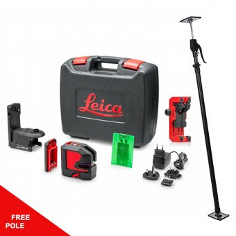 LEICA 864435 LINO L2P5G GREEN POINT-LINE LASER- FREE POLE