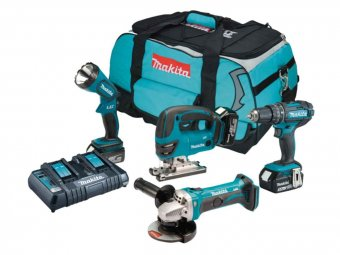 Makita DLX4051PM1 18V 3 x 4.0Ah Li-ion LXT 4 Piece Combo Kit