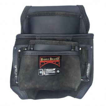 BARRA BBL13 10 POCKET BLACK SINGLE LEATHER TOOL POUCH