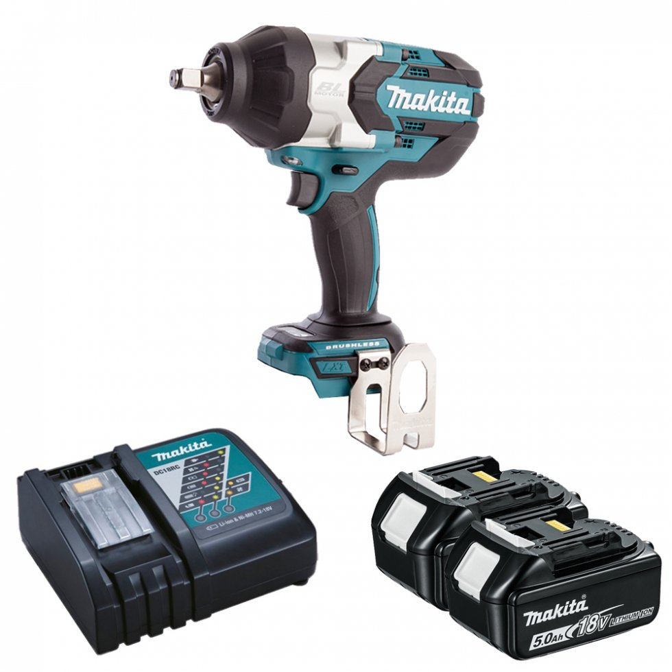 Makita Dtw1002rtj 18v Brushless Impact Wrench With 2 X 50ah Batteries Stanley Driver Click Here For Larger Image