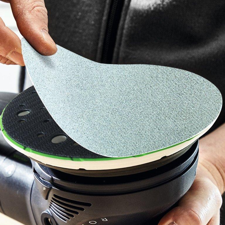 Steel Grey Festool 203304 Abrasive Net STF D150 P100 GR NET//50 Set of 50 Pieces
